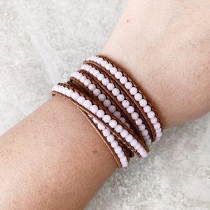 Chan Luu Rose Swarovski Wrap Bracelet